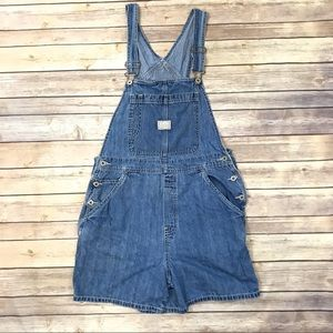 "Old Navy Denim Overall Shorts 4 1/2"" inseam"